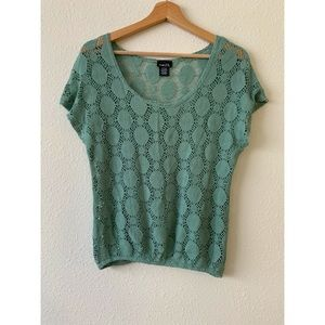 Rue 21 Green Laced top XL